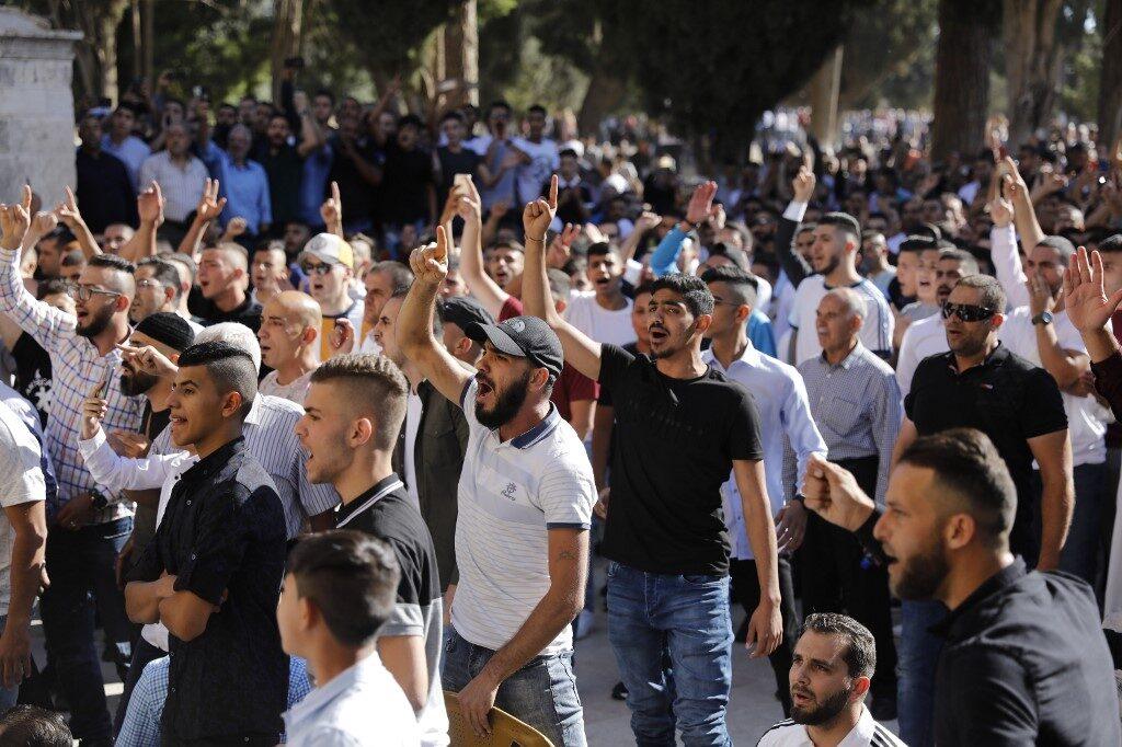 Zsidók megölésére bíztattak a jeruzsálemi Al-Aksza mecset előtt