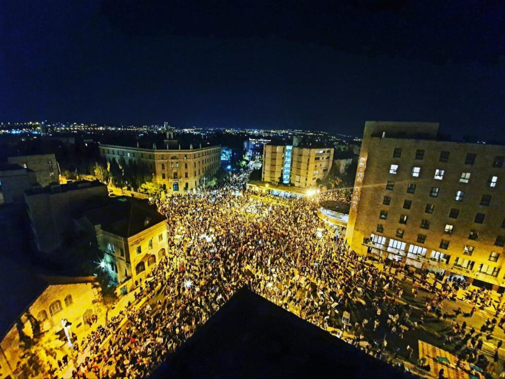 Tízezren tüntettek Netanjahu ellen Jeruzsálemben