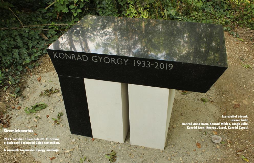 Konrád György sírkőavatása | Szombat Online